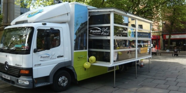 Preston City COuncil's Citizenzone mobile internet cafe