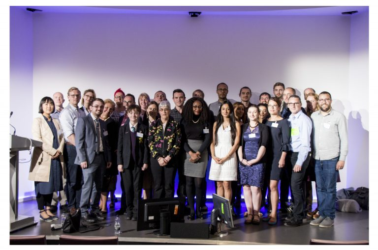 Photo of this year's Tech4Good Awards finalists at BT Tower